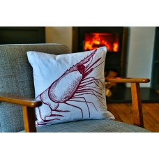 Beautifully Handcrafted in Cornwall Sally the Shrimp Cushion