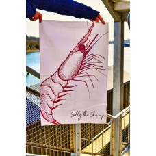Beautifully Handcrafted in Cornwall Sally the Shrimp Tea Towel