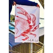 Beautifully Handcrafted in Cornwall Curtis the Crab Tea Towel