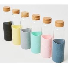 Neon Katcus Glass Water Bottle